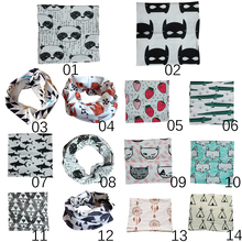 2016 Baby Scarf Lovely Animal Print Scarf Winter Children Collar Boys Girls Cartoon Scarf