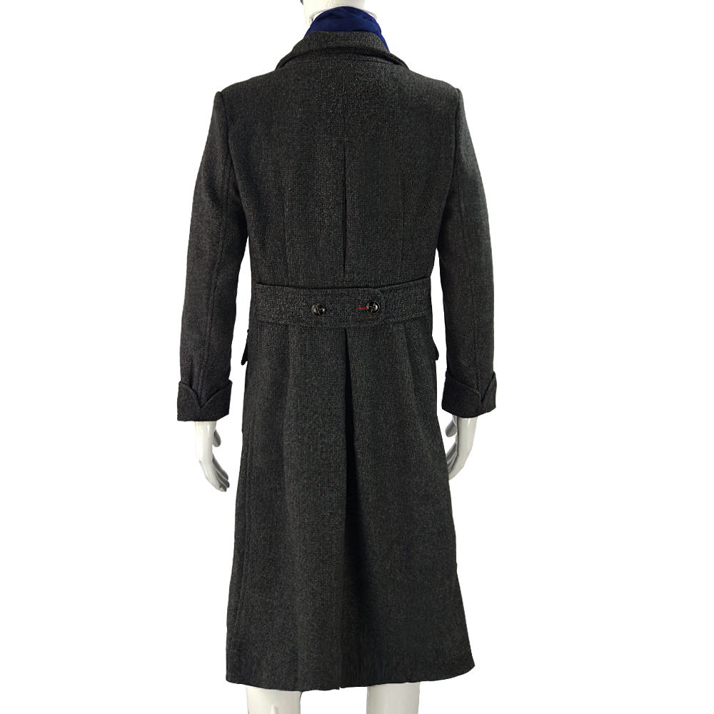 Cosplay Sherlock Holmes Cape Coat Costume Wool Long Jacket Outfit With Scarf New7