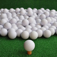 Free Shipping 100 pcs/bag White Indoor Outdoor Training Practice Golf Sports Elastic PU Foam Balls