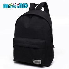 2017 Cheap Mochila Black Backpack Canvas Women Backpack SchoolBags For Teenagers Couple Backpacks Casual 4 color Durable(China)