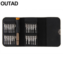 OUTAD 25 in 1 Torx Screwdriver Repair Hand Tool Set BOX For iPhone Cellphone Tablet PC mobile phone Top Sale