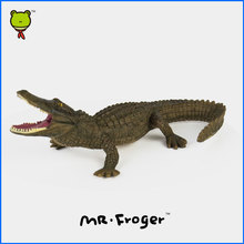 Mr.Froger Chinese Alligator Model Toy Wild Animals Toys Set Zoo modeling plastic Solid crocodile Classic Toys cute Animal Models