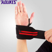 AOLIKES 1 Pair Weightlifting Wristband Sport Professional Training Hand Bands Wrist Support Straps Wraps Guards For Gym Fitness