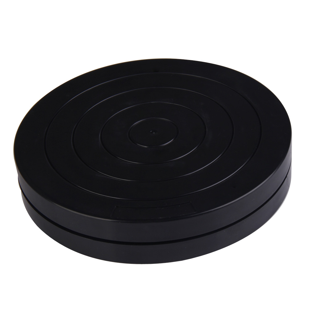Black Round Plastic Rotary Plate Turnplate Clay Pottery Sculpture Tool 18cm<br><br>Aliexpress