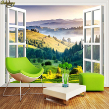 beibehang Out window grassland 3d wallpaper League game background theme cafe Internet cafe ceiling wall murals wall paper roll(China)