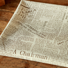 100*145cm Fancy English Newspaper Print Fabric Tecido Curtains Table Cloth Upholstery Sofa Textiles Zakka Linen Material