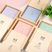 Cute cartoon 365 days school student time planner organizer notebook stationery,candy hardcover diary,gift box wrap,A5 4 color(China)