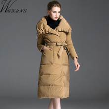 Wmwmnu 2017 New Women Winter Down jacket Warm Padded Long Outerwear Female Duck Down Jackets Ladies Fashion thicken Clothes(China)