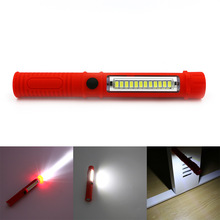 13 LED 2 Modes Outdoor Camping Lamp Portable Flashlight Torch Hanging Flashlight Tent Light With Built-in Magnet Clip AAA Red