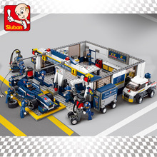 741pcs B0356 Sluban KR F1 Racing Car model Building Blocks Sets Educational Bricks Speedway Kids Baby Toys boy kids set gift()