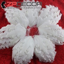 ZPDECOR Premium Quality Artificial White Curly Goose Nagorie Feather Pad Plume For Child Girls Headbands Decoration(China)