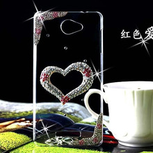 Handmade Heart shape case cover for sony Xperia M C1905 C1904/Z3 MINI/Z3/C3/Z2 MINI/T3 phone bag protective sleeve phone shell