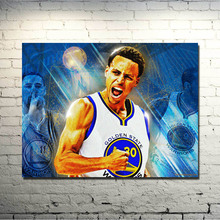 POPIGIST-Stephen Curry Art Silk Fabric Poster   Print 13x18 24x32inch Super Basketball Star Pictures for Home Wall Decor 009