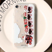 CASEIER 3D Relief Patterned Case For iPhone 5s 5 SE 7 6 6s Cartoon Christmas Soft Silicone Cases For iPhone 7 6s 6 Plus Capinhas(China)
