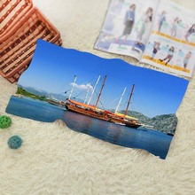 Old Ship At Sea  Vintage Baby Batoom Textil Washcloth Swimwear Shower Best ift 1 Face Towel