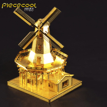 piececool Metal Works Assemble Miniature Metal 3D puzzle Building Model toy for Dutch Windmill