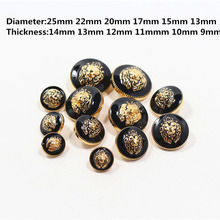 Free shipping, 20PCS oil lion diameter of 13mm-25mm gold buttons, brand button clothing accessories, shirt, coat buttons, k2(China)