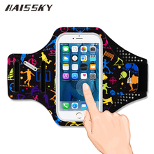 HAISSKY Sport Running Armband For iPhone 6 6S 7 Plus Samsung Galaxy S7 Edge S8 Plus Huawei P9 P10 Plus Case Holder Touch Cover(China)