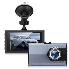 "3.0"" 720P High Definition Car Video Audio RecordingCyclic Recorder Dashcam DVR with Suction Stand"