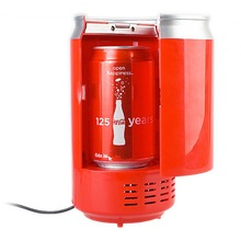 Portable USB Can Shaped Cooler and Warmer Mini Coke Fridge Beverage USB Thermoelectric chilling & milk warming Refrigerator Gift