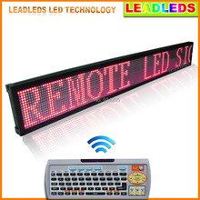 "Leadleds Red Programmable 40"" X 6.3"" Scrolling LED Sign with Pc Software and Remote Access Keyboard(China)"