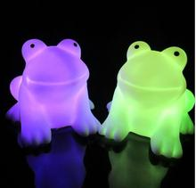 Color Changing Magic LED Cute Frog Night Light Energy Saving Novelty Lamp Colorful