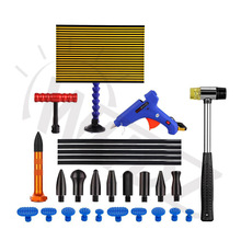 WHDZ Automotive Tools Body Shop Tools - PDR LED Light borde PDR Strip Line Board with Dent Hammer Puller Tab Glue Gun