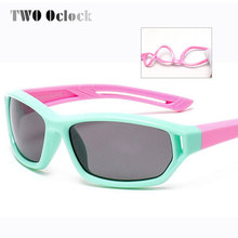 TWO Oclock Cute Baby Polarized Sunglasses Kids Child Girls Boys Sport Goggles TR90 Polaroid Sun Glasses Shades Infant oculos 864(China)