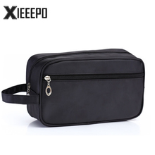 Men Travel Cosmetic Bag Trunk Makeup Case Zipper Dot Make Up Handbag Necessaries Organizer Storage Pouch Toiletry Wash Box(China)