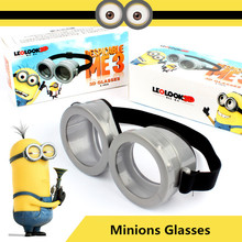 2017 Newest Minions Toys Cartoon Interesting Despicable Me 2 Minions Glasses Flash Mask Cosplay Kids Toys Halloween Gifts