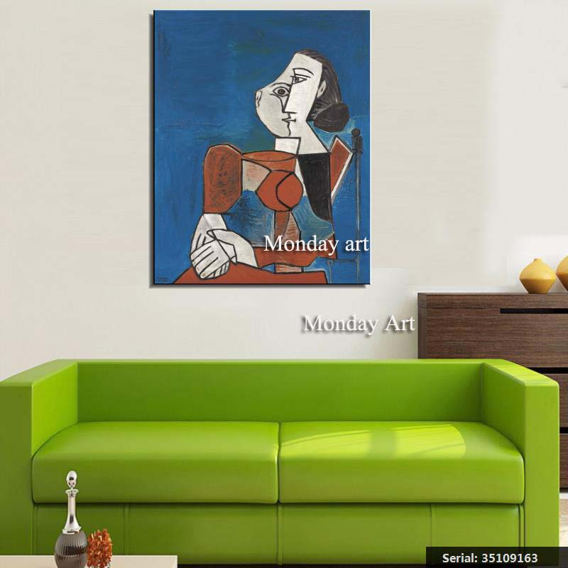 VANQUISH-Picasso-Still-life-Modern-oil-Painting-Drawing-art-Spray-Unframed-Canvas-square-scarf-gemstone-iron