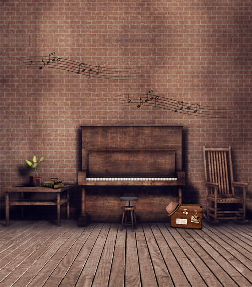 Free shipping 5x7ft brick wall photography background for photo studio pattern vinyl backdrops with wood floor CM-6730<br>