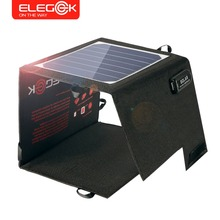 ELEGEEK 5V 10.5W Foldable Solar Charger Battery Powerbank Solar Panel 5V High Conversion Rate USB Charger for Mobile Phone(China)