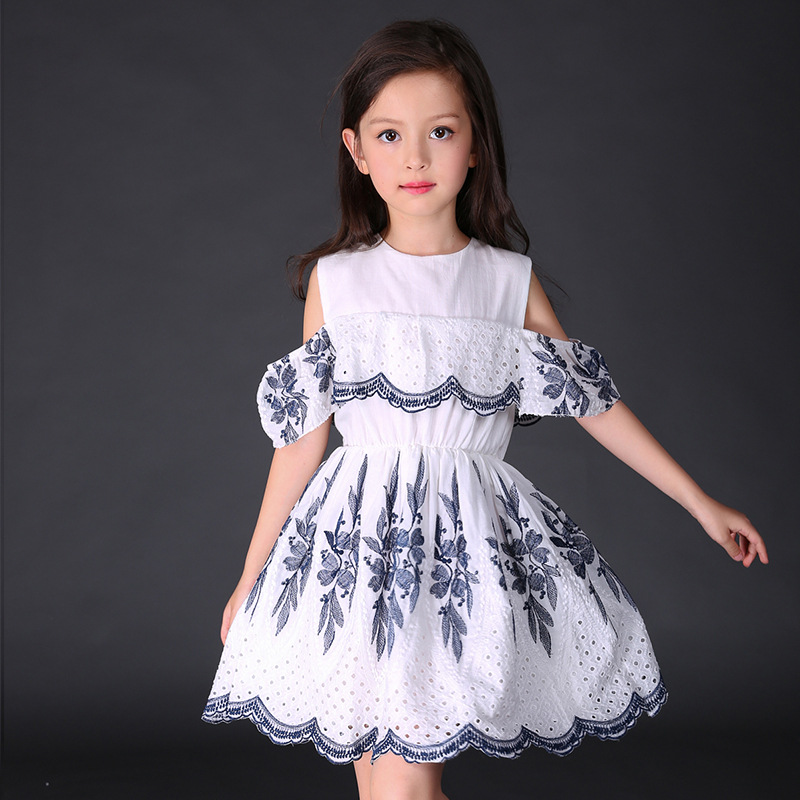 Kids Dresses For Girls Off Should Floral Print Princess Party Dress 2017 Children Birthday Prom Dress 4 6 8 10 12 Years Vestidos<br><br>Aliexpress