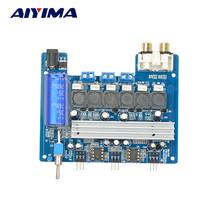 Aiyima TPA3116D2 Subwoofer Digital amplifier Board Super Bass TPA3116 2.1 channel 2 * 50W+100W For 3-16Ohm Speaker 12V-24V(China)