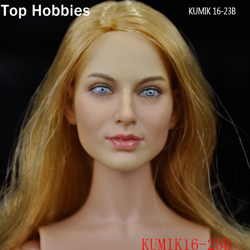 KUMIK 16-23 B 1/6 Scale Female Headplay Girl Head Sculpt Fit 12 Hot Toys Phicen Action Figure Accessories<br>