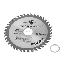 4 inch 40T Circular Saw Blade Wood Cutting Round Discs Sawing Cutter Tools Drop Ship(China)