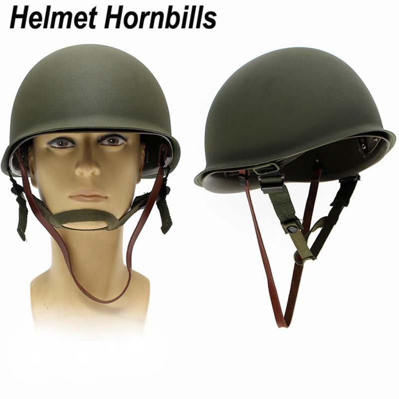 New Replica WW2 M1 US Army Military Metal Helmet for Hunting Airsoft Protective Helmet<br>