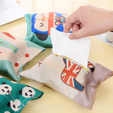 Hot 1Pc Creative Fabric Cute Cartoon Animal Tissue Paper Pumping Storage Cotton Linen Box Home Table Decorations Accessories