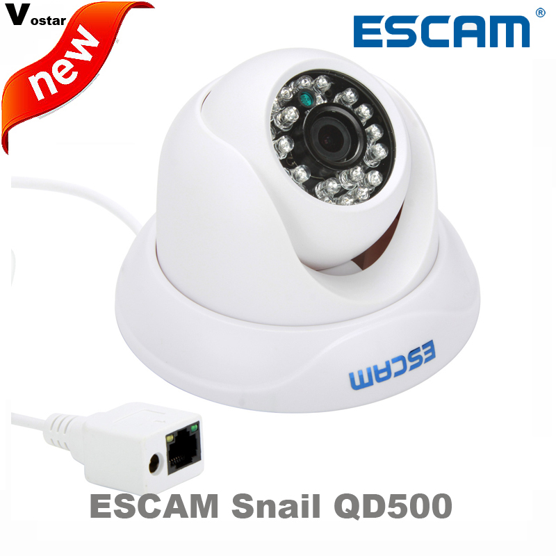 Escam Snail QD500 H.264 1/4 CMOS IP Camera 3.6mm Lens Waterproof IR 10m Internet Camera Night Vision Onvif P2P Mini Camera<br>