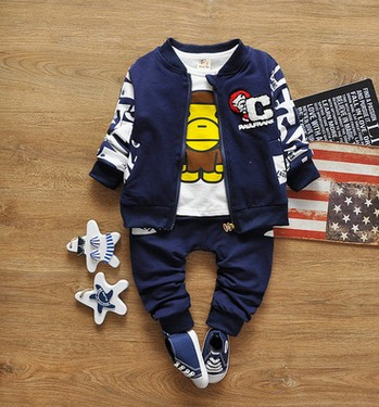 Special childrens wear boys coat + T-shirt + slacks three-piece boy casual sport suits<br>
