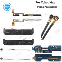 For Cubot max Mobile Phone Speakers Coaxial antenna Usb Flex Cable Speaker cable Power on volume key flex cable Phone Accessory