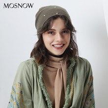 Invierno perlas sombreros para mujer 2018 nueva lana gorros sombrero hecho  punto otoño perla sombrero Warmer mujer Bonnet señora. 2f7aeb3b569