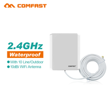 2pcs 10M External Cable 2.4 Ghz High Gain 10dBi Outdoor WLan  ISM WiFi Wireless Router Directional Antenna Panel Antennas RP SMA