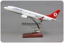 Brand New 1/100 Scale Airplane Model Toys 40cm Turkish Airlines Boeing B737-800 Resin Plane Model Toy For Gift/Kids/Collection