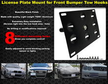 Front Bumper Tow Hook License Plate Mount Bracket Holder For BMW Fit/Jazz 08 Yaris Mitsubishi Lancer RS3-BTD013(China)