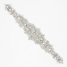 Clear Beads Crystal Rhinestones Applique for Wedding Dress Belts Hat Sewing Accessories Trims Iron On DIY Crafts 3 Models