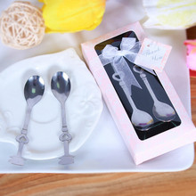 Creative Stainless Steel Coffee Spoon Wedding Favors and Gifts for Guests Wedding Souvenirs Box wedding celebration supplies