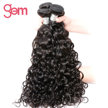 Peruvian Remy Hair Water Wave Human Hair Weaving Bundles Natural Color Gem Beauty Hair Company 1 Piece Only Free Shipping
