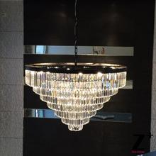 Replica Grand crystal chandelier Industrial Diam 100cm 1920S ODEON CLEAR GLASS FRINGE 7-TIER CHANDELIER vintage k9 lustre